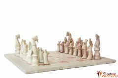 Chess small beige-pink