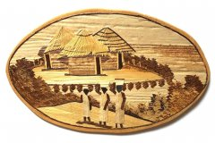 Wooden picture with african theme