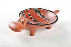 Hippo – bowl (smaller) brown (photo no. 1855)