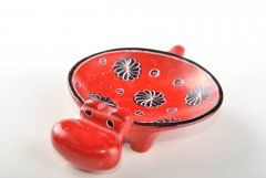 Hippo – bowl (smaller) red (photo no. 1862)