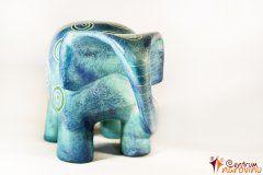 Modern large elephant – blue