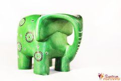 Modern large elephant – green