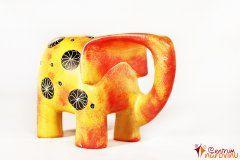 Modern large elephant – orange