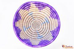 Bowl – string – small purple / natural / turquoise