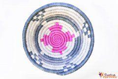 Bowl – string – a small blue / natural / pink