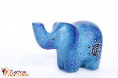 Elephant statuette blue
