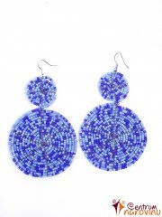 Earrings dark blue