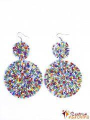 Colored earrings