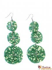 Dark green earrings