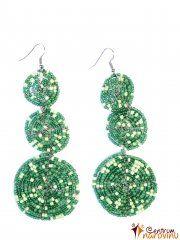 Dark green earrings