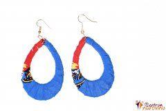 Earrings blue and orange