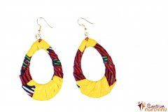 Earrings yellow and red