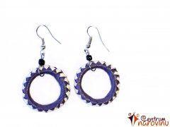 Earrings white and purple