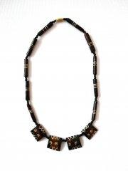 Black necklace made of bones