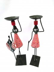 Red candlestick African couple