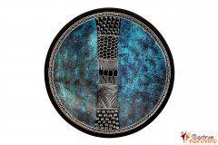 Dish (medium) blue-black