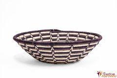 Bowl – string – large natural with dark violet