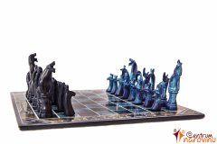 Chess small blue-black
