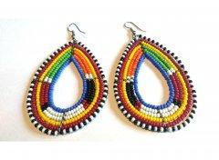 Colored earrings tear shape
