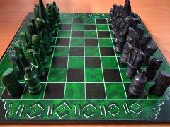 Chess square green-black