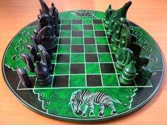 Chess round green-black
