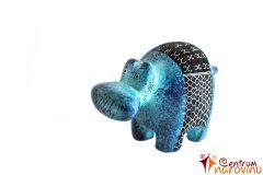 Hippo statuette blue (stripe)