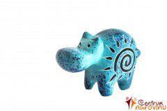 Hippo statuette blue (sun)