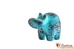 Hippo statuette blue (spiral)