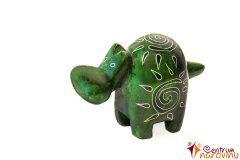 Hippo statuette dark green (sun)