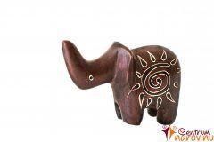 Elephant statuette brown (sun)