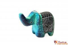 Elephant statuette blue (strip)