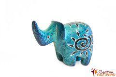 Elephant statuette blue (sun)