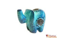 Elephant statuette blue (spiral)