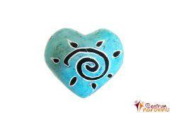 Blue heart (sun)