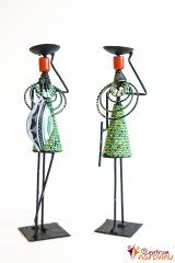 Candlestick African couple green