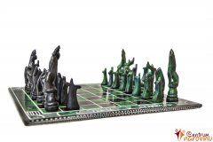 Chess small green-black